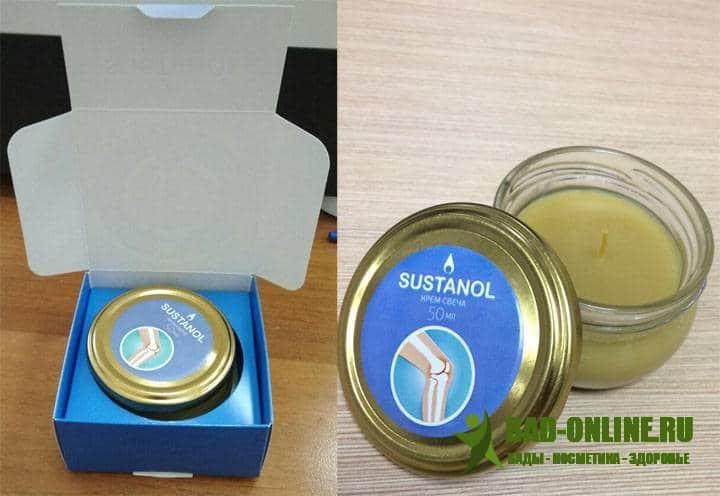 Sustanol (Сустанол) крем-свечи для суставов купить
