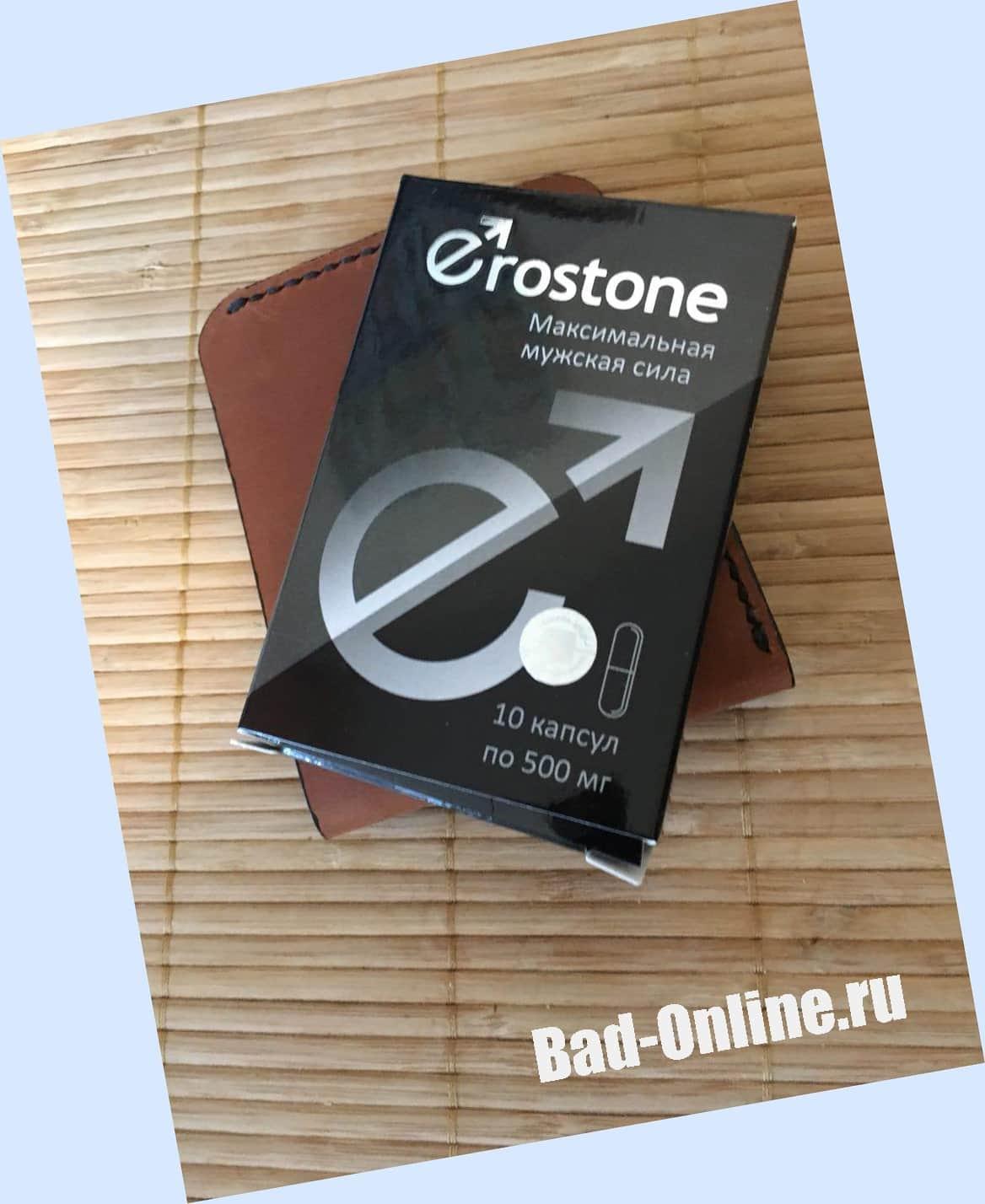 Фото оригинального средства для потенции Erostone, купленного на Bad-Online.ru