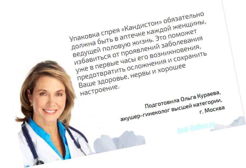 Реальные отзывы клиентов и врачей о препарате Кандистон