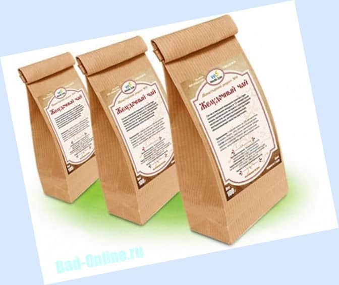 Монастырский желудочный чай для желудочно-кишечного тракта на сайте Bad-Online.ru
