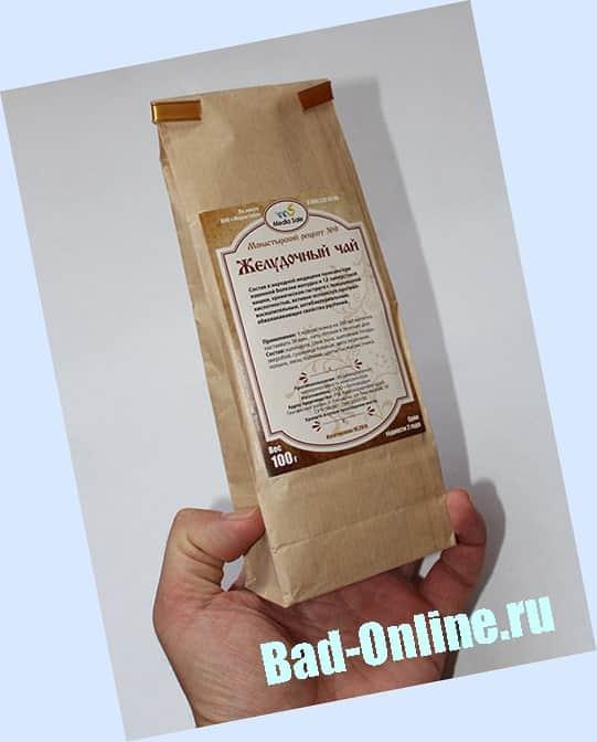 Оригинал Монастырский желудочный чай, купленный на сайте Bad-Online.ru