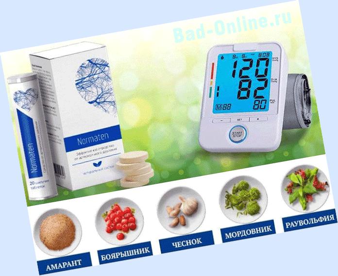 Полный состав препарата Normaten от гипертонии на сайте Bad-Online.ru