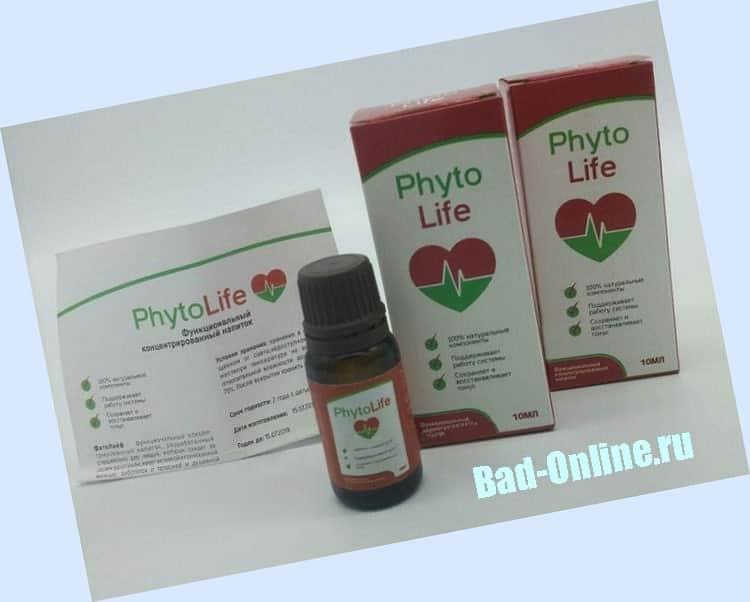 Оригинальный препарат Phytolife, купленный на сайте Bad-Online.ru