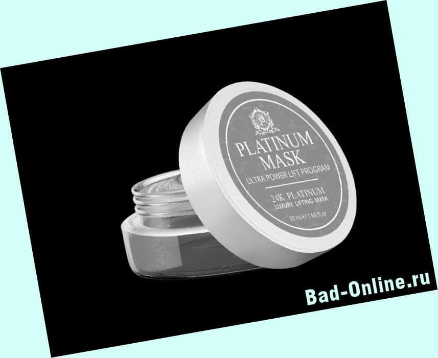 Оригинал препарата Platinum Mask, купленный на сайте Bad-Online.ru